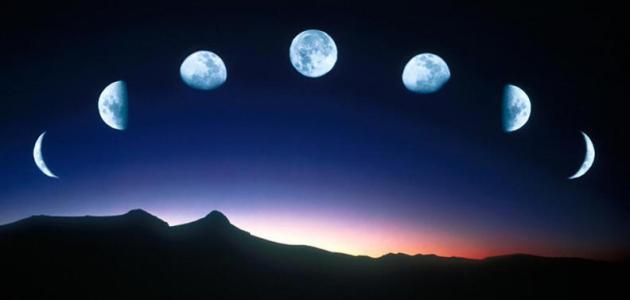 بالصور صور عن القمر , اشكال ظهور القمر 5271 2