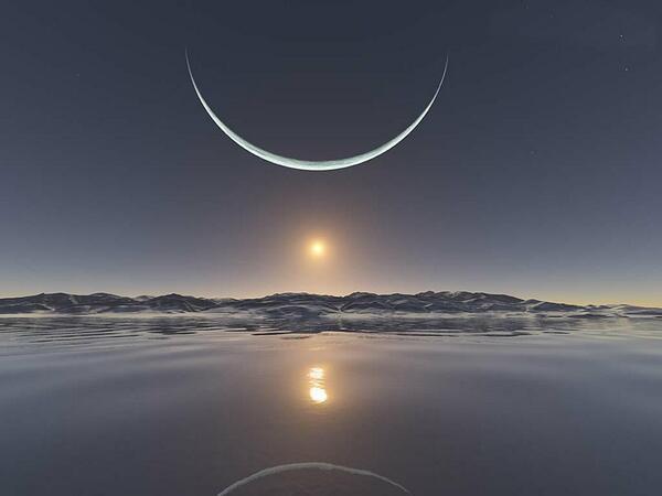 بالصور صور عن القمر , اشكال ظهور القمر 5271 5