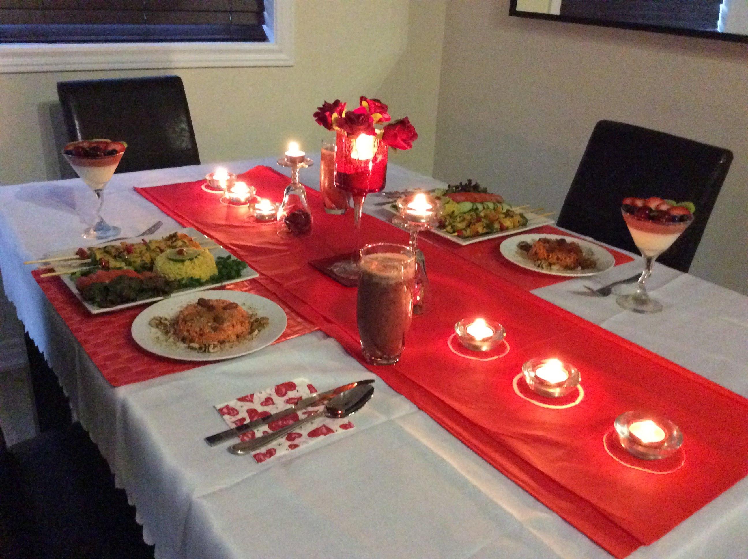 صورة افكار لعشاء رومانسي , خطوات لاكلات رومانسية