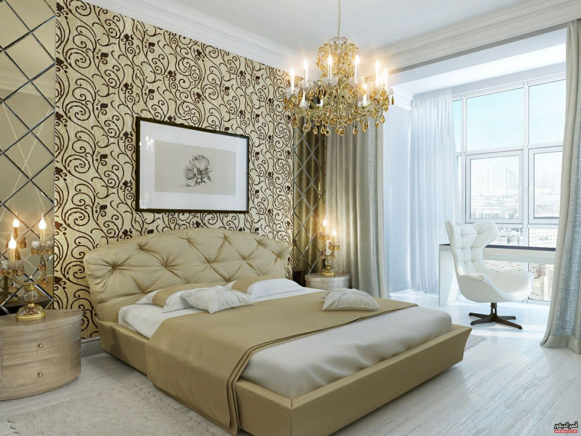 بالصور ورق جدران لغرف النوم , اشكال ورق خائط لغرف النوم 1776 9