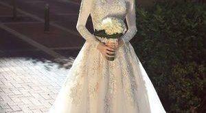 صوره فساتين اعراس للمحجبات , احدث الموديلات لفساتين الافراح