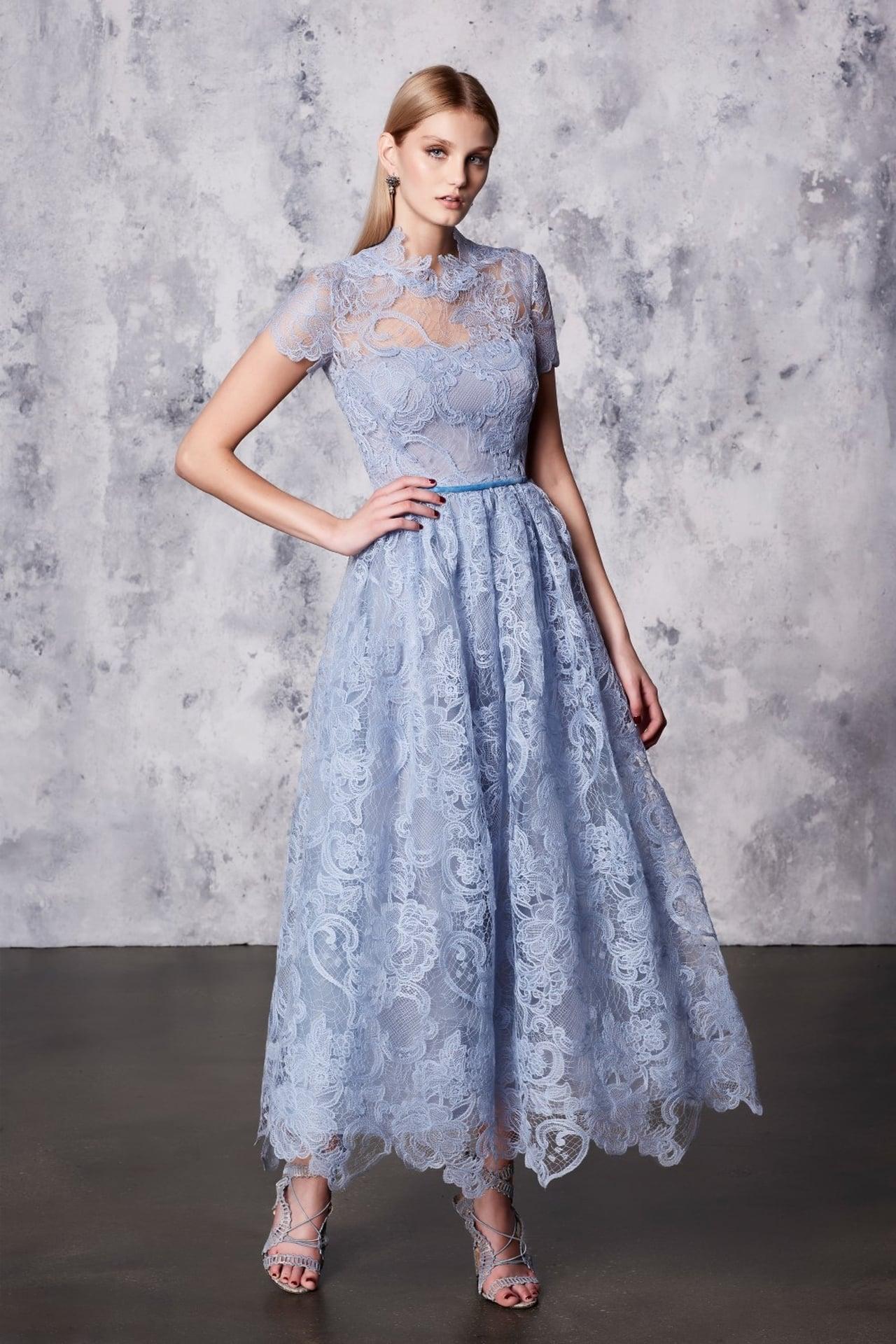 صور فساتين دانتيل , لاناقة المساء اخترنا لكي اجمل الفساتين الدانتيل