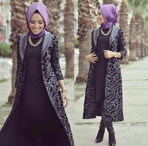ec6e6a582 ملابس شتوية للمحجبات تركية , لباس حجاب تركى شتوى - عبارات