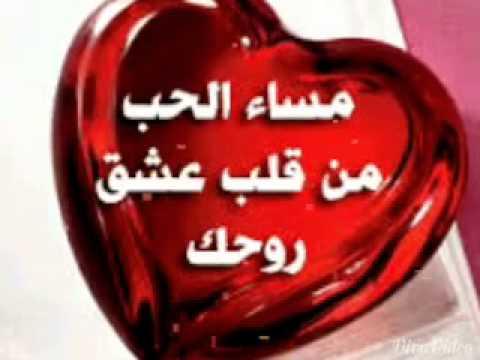 مساء الحب حبيبي مساء الورد حبيبى عبارات
