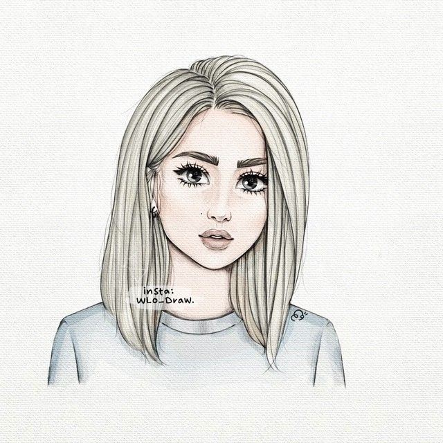 صورة بنات كيوت رسم , رسومات بنات كيوت 4631 2