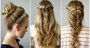 تسريحات للشعر الطويل بسيطة , اجمل تسريحات الشعر الطويل للنساء