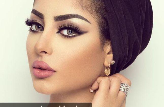 صورة مكياج خليجي , اجمل استايلات المكياج الخليجى