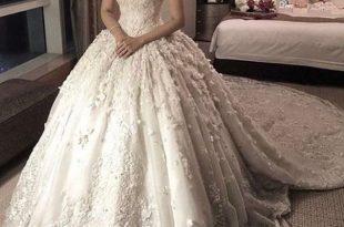 صورة فساتين زفاف فخمه , حلم كل فتاة فستان زفاف