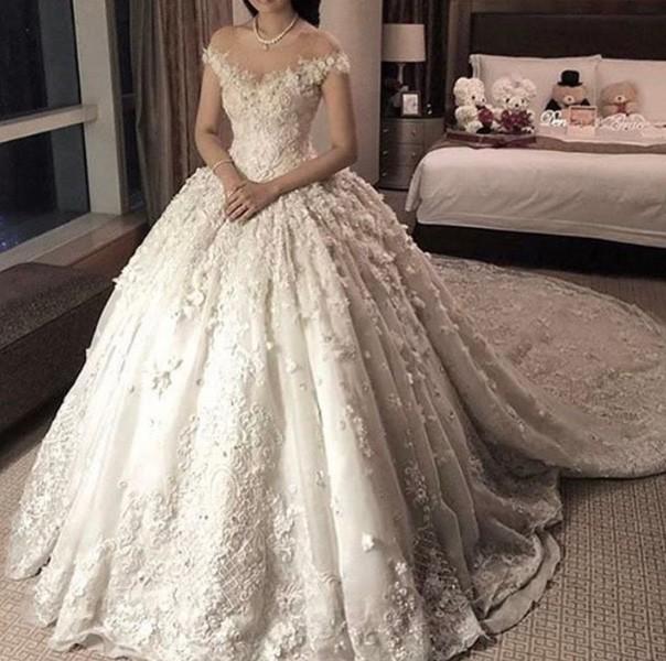 صوره فساتين زفاف فخمه , حلم كل فتاة فستان زفاف