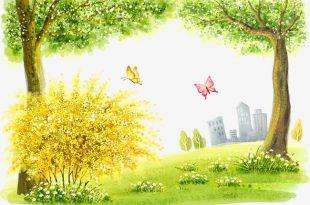 صوره رسم منظر طبيعي سهل للاطفال , رسم سهل للاطفال