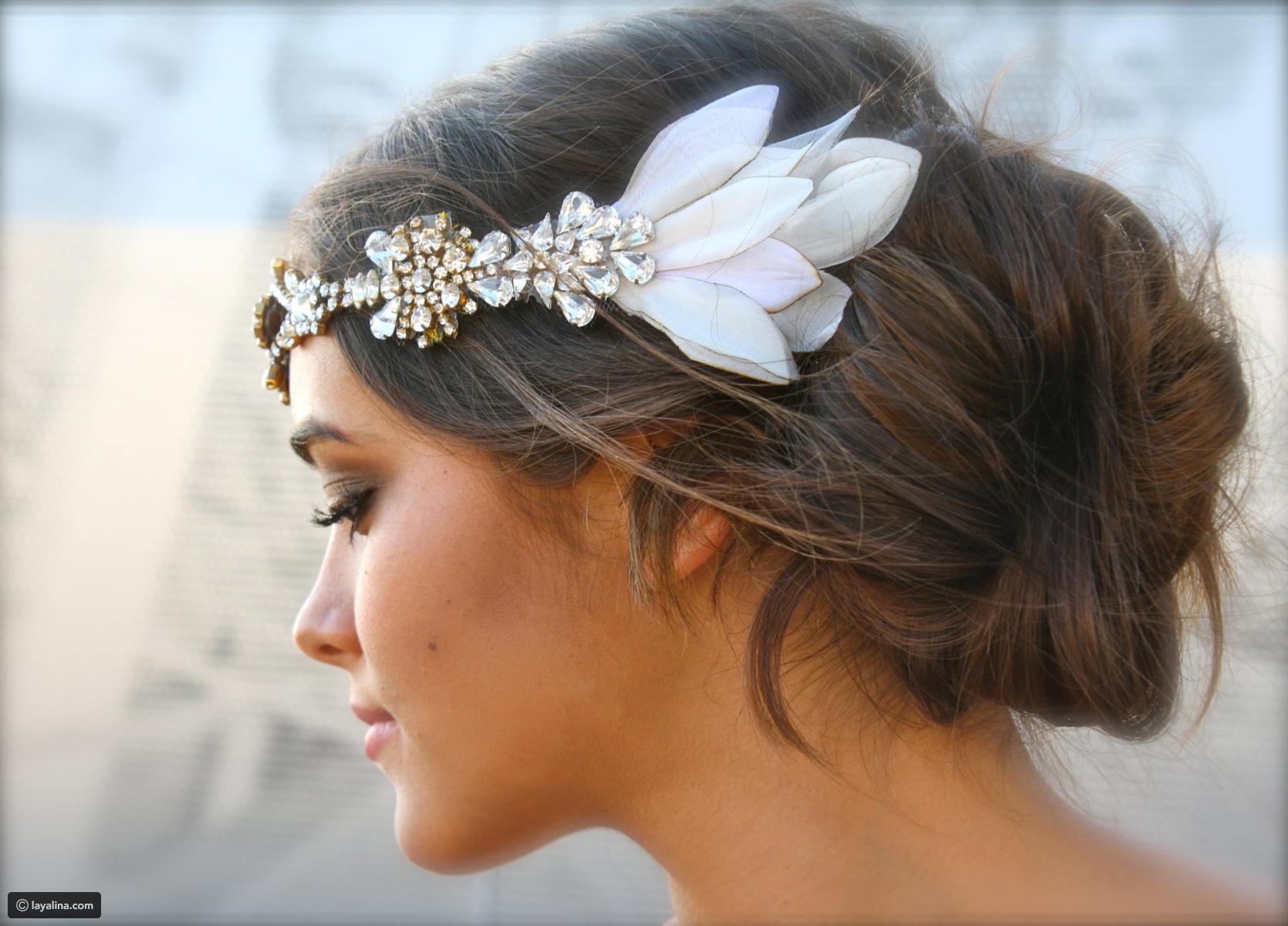 بالصور احلى تسريحه عروس , تسريحات راقيه للعروسه 2153 6