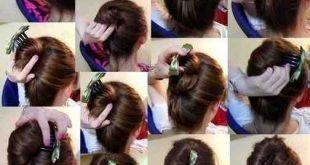صوره تسريحات بسيطة للشعر , ابسط تسريحات الشعر