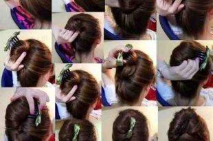 صورة تسريحات بسيطة للشعر , ابسط تسريحات الشعر