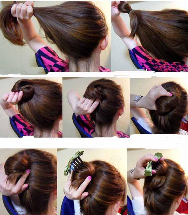 بالصور تسريحات بسيطة للشعر , ابسط تسريحات الشعر 2161 9
