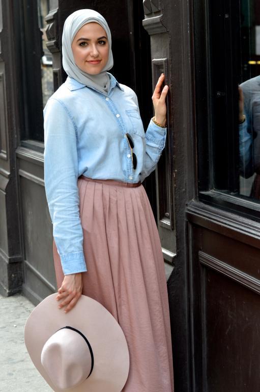 بالصور بلوزات للمحجبات , قميص نسائي انيق للمراة المحتشمة 2979 9