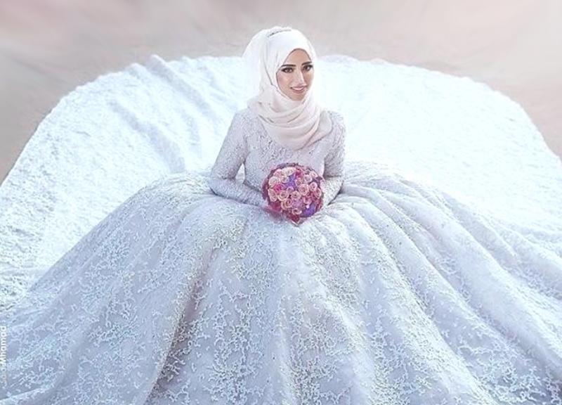 بالصور صور عرايس محجبات , عرايس محجبات جميله جداا واشكال حجاب جديده 6571 2