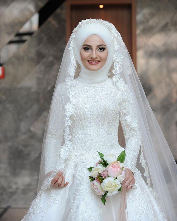 بالصور صور عرايس محجبات , عرايس محجبات جميله جداا واشكال حجاب جديده 6571 3