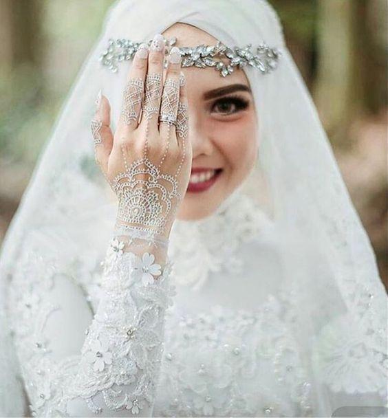 بالصور صور عرايس محجبات , عرايس محجبات جميله جداا واشكال حجاب جديده 6571 8