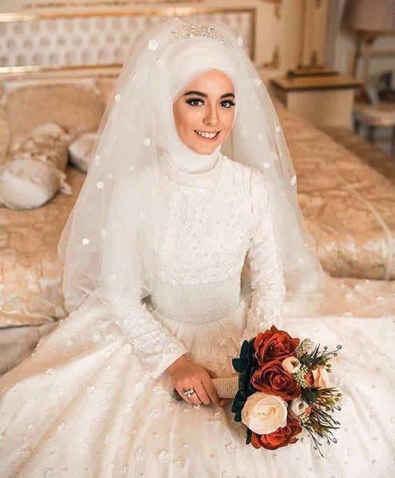بالصور صور عرايس محجبات , عرايس محجبات جميله جداا واشكال حجاب جديده 6571 9