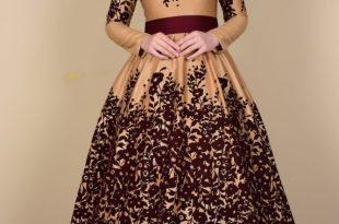 صوره فساتين سواريه للمحجبات 2018 , اشيك الفساتين السواريه للمحجبات