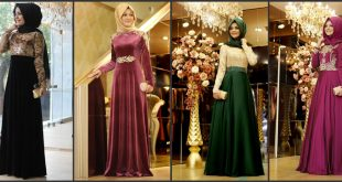 صوره اجمل الفساتين للمحجبات , تصميمات فساتين سواريه للمحجبات تركى تحفة