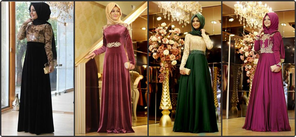 f583e8c1f81a3 صور اجمل الفساتين للمحجبات