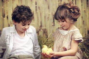 صوره صور بنت وولد , براءة المشاعر في لقطات طريفة لاطفال زي العسل