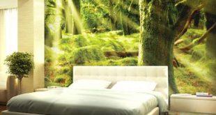 صور ورق جدران غرف نوم , احدث تشكيلة عصرية لديكورات ورق الحائط لجدران غرفة نومك