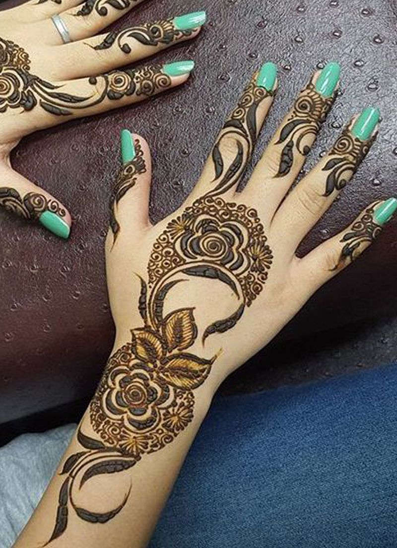 بالصور نقشات حناء انستقرام , للعروس الرقيقة اليكي احدث استايلات رسم الحناء على اليدين والاظافر 5982 1