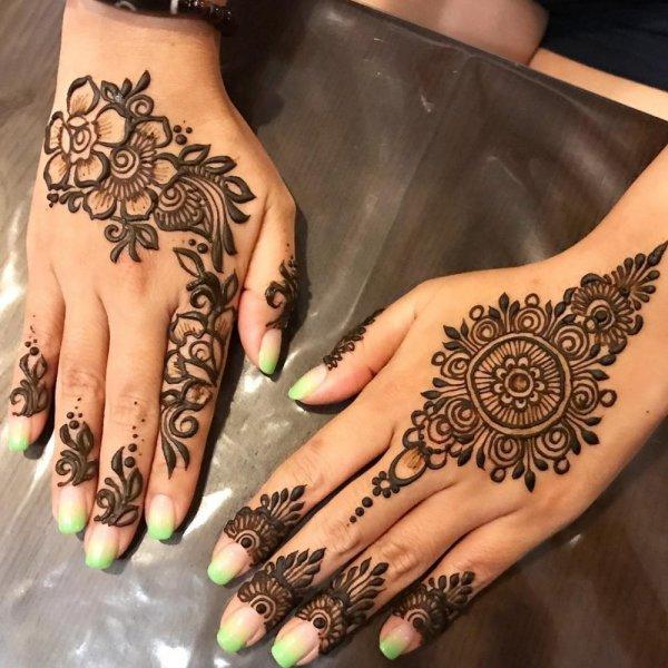 بالصور نقشات حناء انستقرام , للعروس الرقيقة اليكي احدث استايلات رسم الحناء على اليدين والاظافر 5982 11
