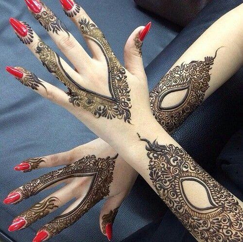 بالصور نقشات حناء انستقرام , للعروس الرقيقة اليكي احدث استايلات رسم الحناء على اليدين والاظافر 5982 4