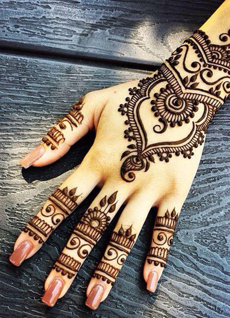 بالصور نقشات حناء انستقرام , للعروس الرقيقة اليكي احدث استايلات رسم الحناء على اليدين والاظافر 5982 6