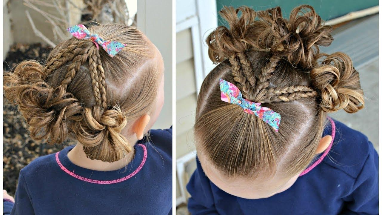 بالصور بالصور تسريحات شعر للاطفال , طرق مبتكرة لتصفيف شعر ابنتك بشكل جذاب ورقيق 6211 11
