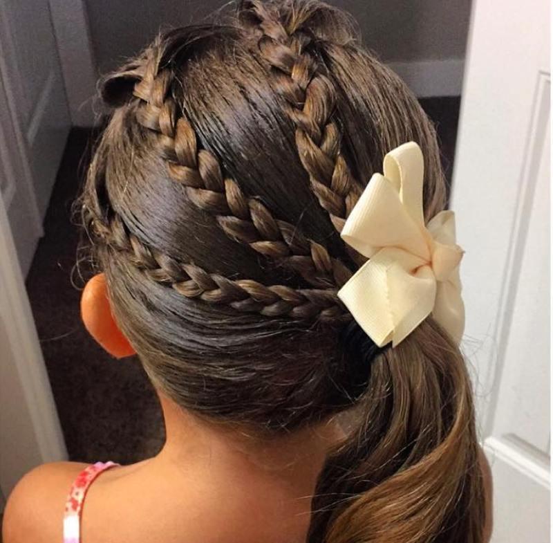 بالصور بالصور تسريحات شعر للاطفال , طرق مبتكرة لتصفيف شعر ابنتك بشكل جذاب ورقيق 6211 7