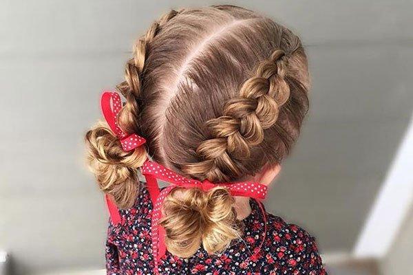 صور بالصور تسريحات شعر للاطفال , طرق مبتكرة لتصفيف شعر ابنتك بشكل جذاب ورقيق