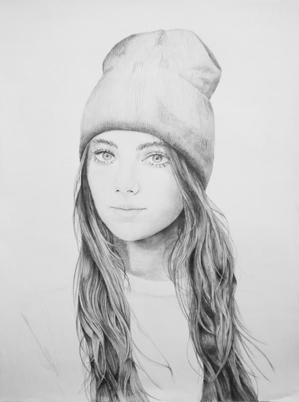 صور رسومات بنات جميلة , اسكتشات سهلة الرسم بالقلم الرصاص لوجوه فتيات رقيقة