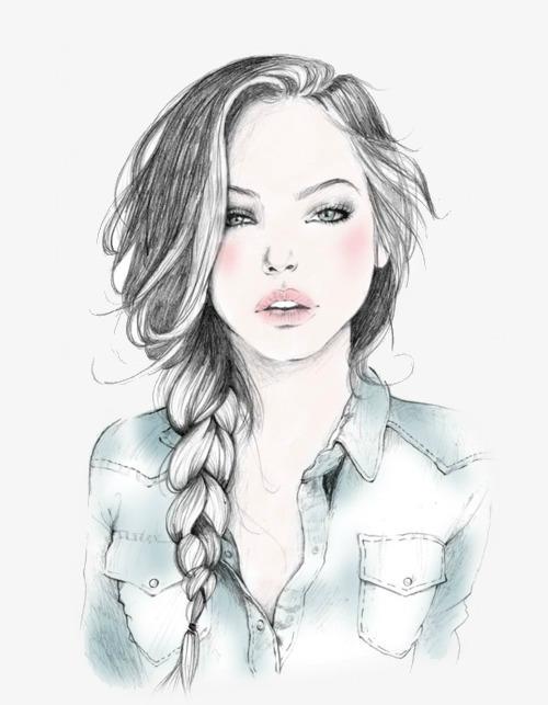 بالصور رسومات بنات جميلة , اسكتشات سهلة الرسم بالقلم الرصاص لوجوه فتيات رقيقة 1363 11
