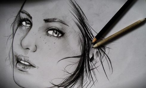 بالصور رسومات بنات جميلة , اسكتشات سهلة الرسم بالقلم الرصاص لوجوه فتيات رقيقة 1363 13