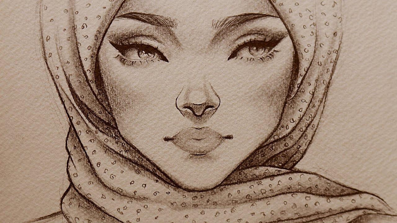 بالصور رسومات بنات جميلة , اسكتشات سهلة الرسم بالقلم الرصاص لوجوه فتيات رقيقة 1363 14