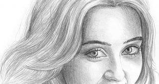 بالصور رسومات بنات جميلة , اسكتشات سهلة الرسم بالقلم الرصاص لوجوه فتيات رقيقة 1363 15 310x165