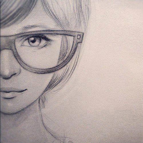 بالصور رسومات بنات جميلة , اسكتشات سهلة الرسم بالقلم الرصاص لوجوه فتيات رقيقة 1363 2