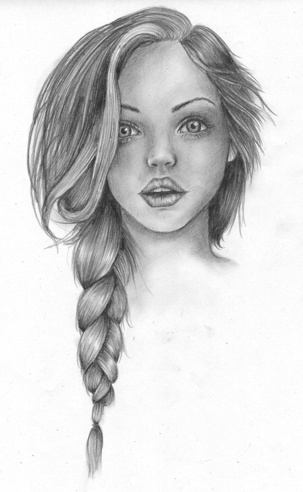 بالصور رسومات بنات جميلة , اسكتشات سهلة الرسم بالقلم الرصاص لوجوه فتيات رقيقة 1363 3