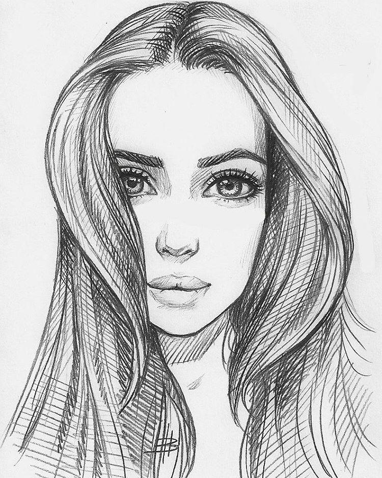 بالصور رسومات بنات جميلة , اسكتشات سهلة الرسم بالقلم الرصاص لوجوه فتيات رقيقة 1363 4