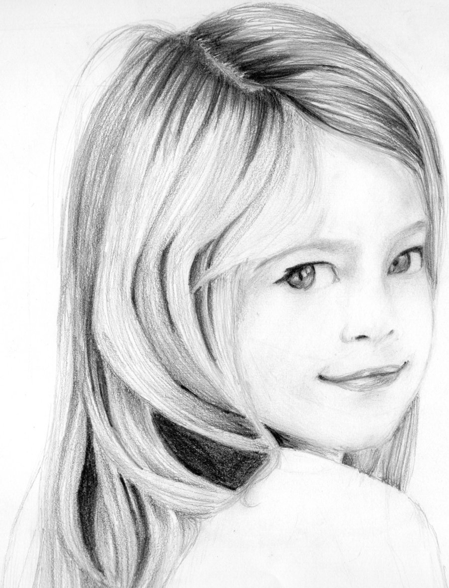 بالصور رسومات بنات جميلة , اسكتشات سهلة الرسم بالقلم الرصاص لوجوه فتيات رقيقة 1363 6