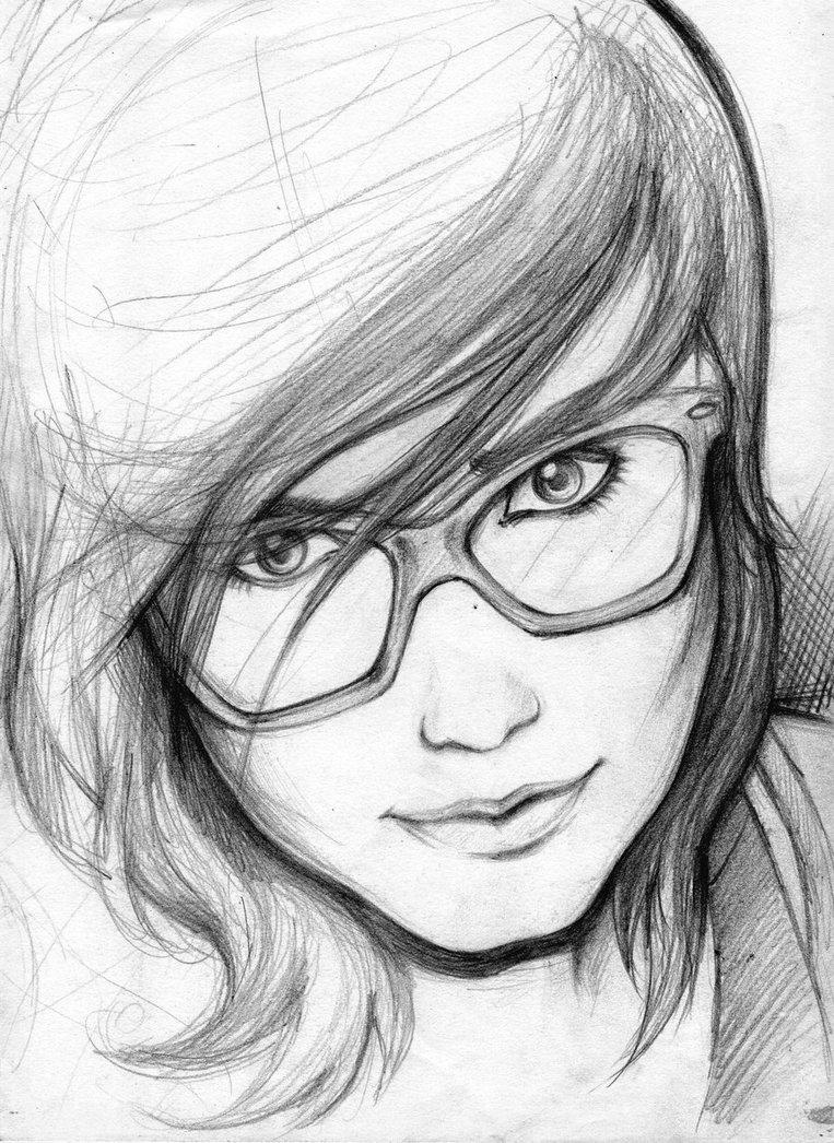 بالصور رسومات بنات جميلة , اسكتشات سهلة الرسم بالقلم الرصاص لوجوه فتيات رقيقة 1363 7