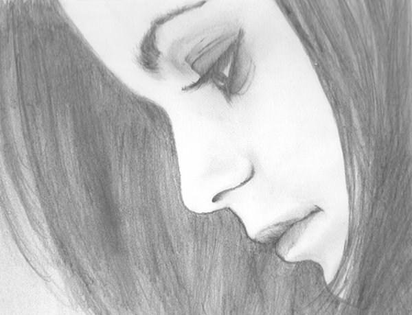 بالصور رسومات بنات جميلة , اسكتشات سهلة الرسم بالقلم الرصاص لوجوه فتيات رقيقة 1363 9