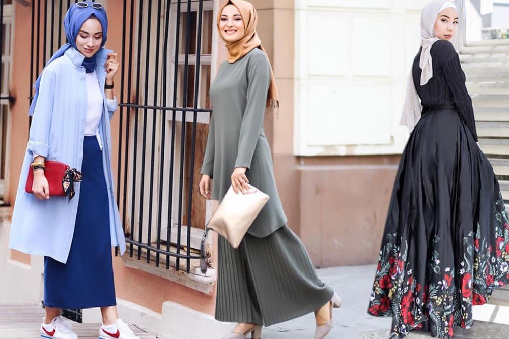 صورة ملابس تركيه للمحجبات , اشيك اللوكات التركية