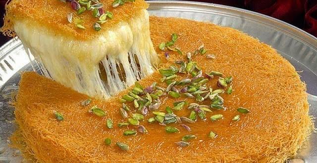 بالصور كنافة تركية , وصفة شهية ولذيذة لعمل الكنافة التركي بالجبن 1383 1