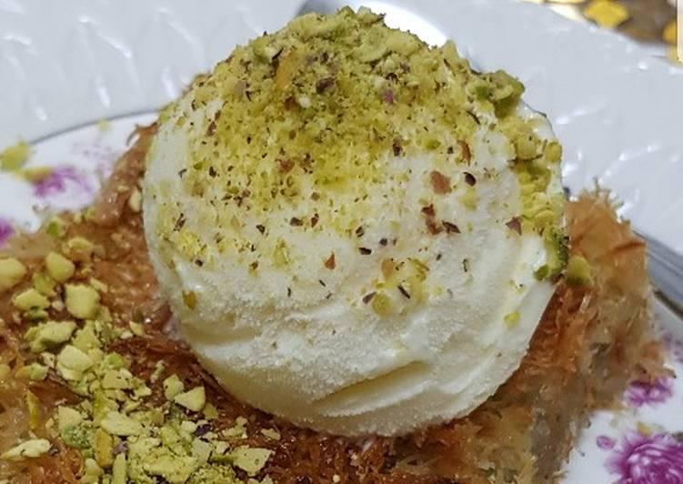 بالصور كنافة تركية , وصفة شهية ولذيذة لعمل الكنافة التركي بالجبن 1383 2