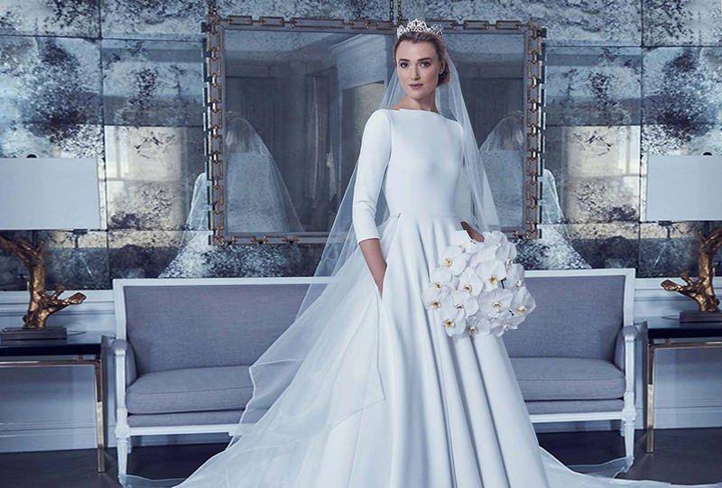 بالصور فساتين افراح , الريش والفيونكات احدث صيحات الموضة في عالم فساتين الزفاف 476 11